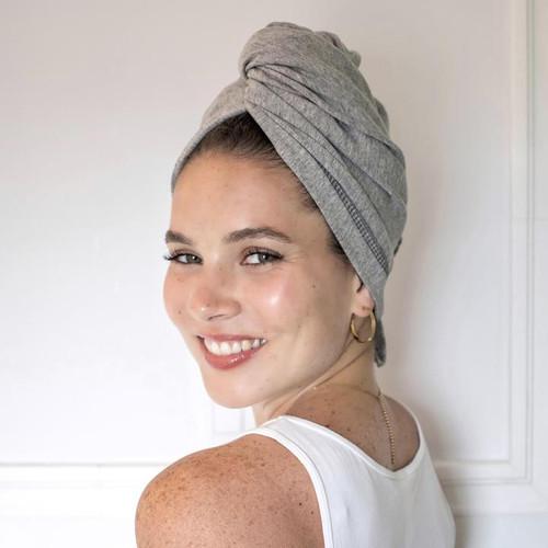 Tee-Owels T-shirt Hair Towel (Grey)