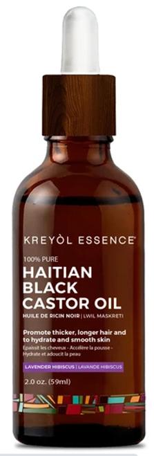 Kreyol Essence Haitian Black Castor Oil - (Lwil Maskreti) Lavender Hibiscus - 2 oz