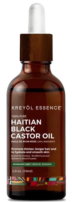 Kreyol Essence Haitian Black Castor Oil - (Lwil Maskreti) Rosemary Mint - 2 oz