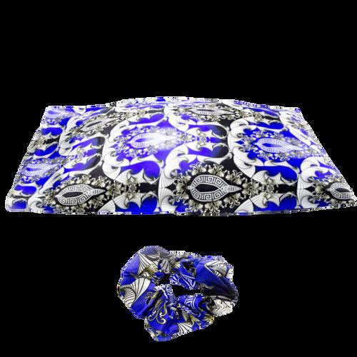 Fey'Kare 22 Momme 100% Mulberry Silk Pillowcase & Scrunchie Set (Nipsey Blue)