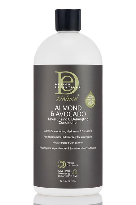 Design Essentials Natural Almond & Avocado Moisturizing & Detangling Conditioner (34 oz)