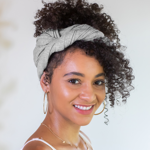 Tee-Owels T-shirt Hair Towel (M00nst0ne Grey)