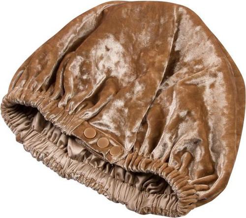 SwirlyCurly Nighttime Hair Bonnets with EdgeProtect™ (Coffee Cream Velvet)