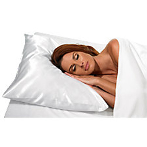 White Satin Pillowcase