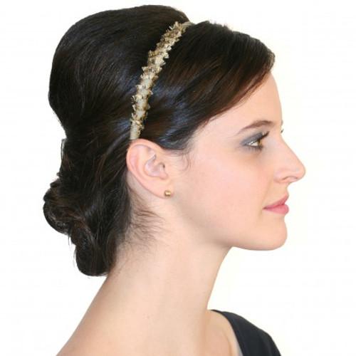Andrea's Beau Elodie Raw Silk Crescent Headband