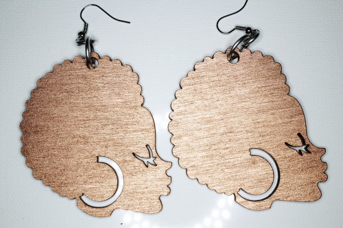 Afro Chic Earrings (Rose Gold)