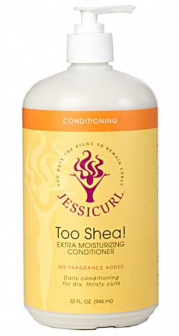 Jessicurl Too Shea Extra Moisturizing Conditioner (Citrus Lavender - 32oz -Gluten Free)