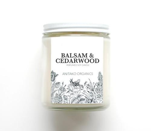 ANITAKO Organics Perfumed Soy Candle (Balsam & Cedarwood)
