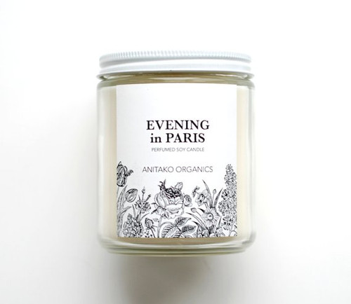 ANITAKO Organics Perfumed Soy Candle (Evening in Paris)