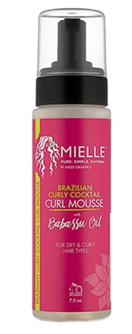 Mielle Organics Babassu Brazilian Curly Cocktail Curl Mousse  (7.5 oz)
