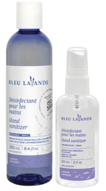 Bleu Lavande Désinfectant pour les mains - Hand Sanitizer (DUO)