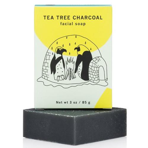 Meow Meow Tweet  Facial Soap Tea Tree Charcoal (4.5 oz)