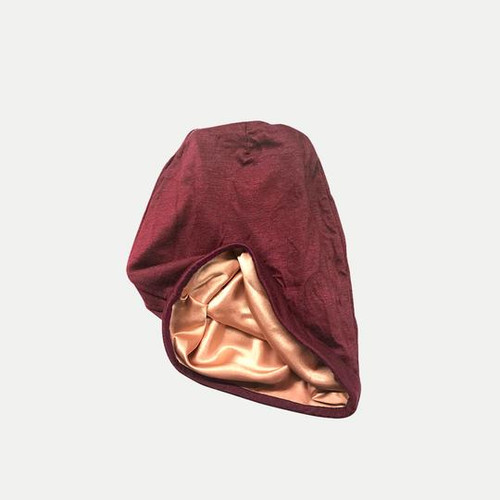 Satin Lined Jersey Beanie (Burgundy)