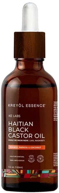 Kreyol Essence Haitian Black Castor Oil - (Lwil Maskreti) Mango Papaya & Coconut - 3.4 oz