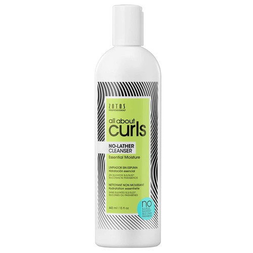 Zotos All about Curls No-Lather Cleanser  (15oz)
