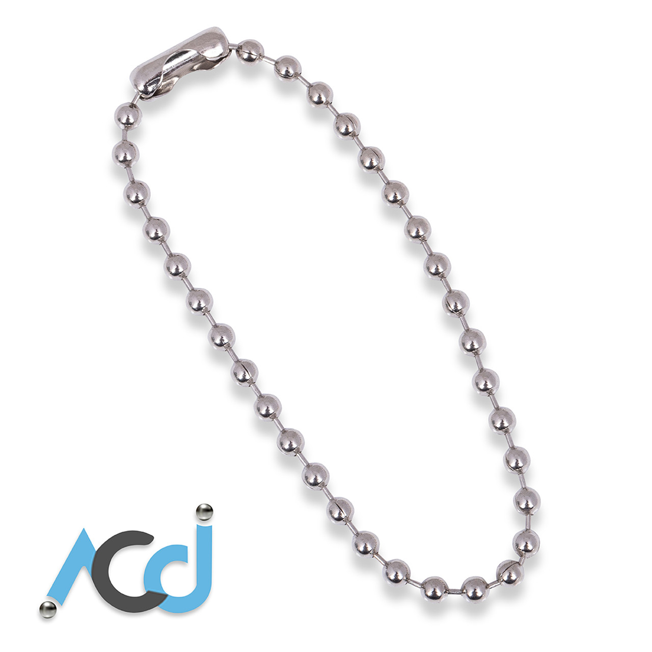 3.2mm Choose Length Metal Bead Ball Chain With Connectors Stainless Steel