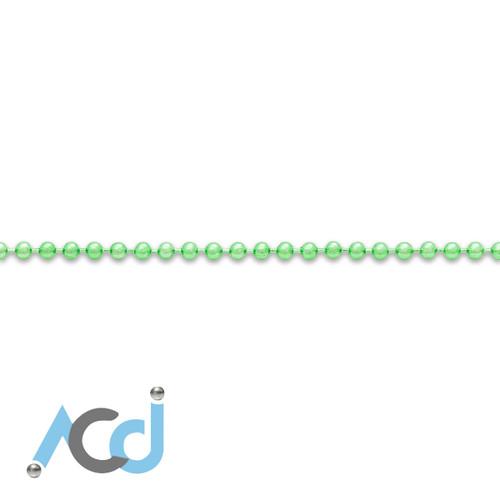 Demo: Ball Chain Lime Green