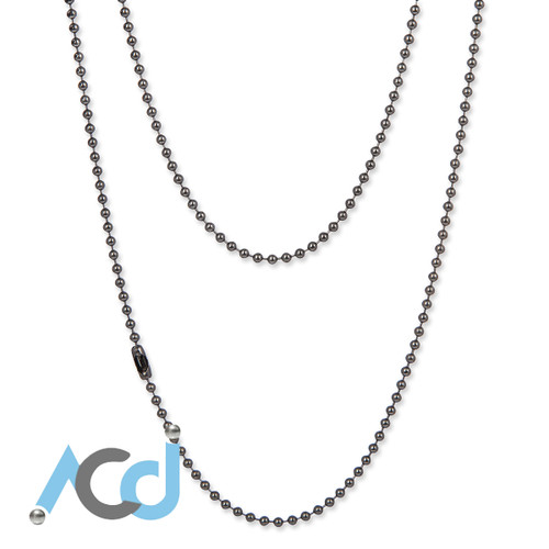 Demo: Black Chrome Chain Necklace