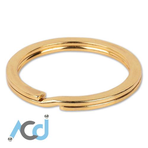 Demo: Key Ring Flat Faux Gold