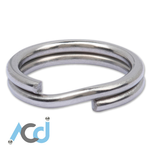 Key Ring Dual Round Split [10mm] - Stainless Steel