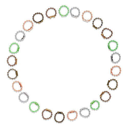 Ball Chain [1.5 to 2.4mm] Stitch Markers 5cm [25 Pack] - Mixed Colours