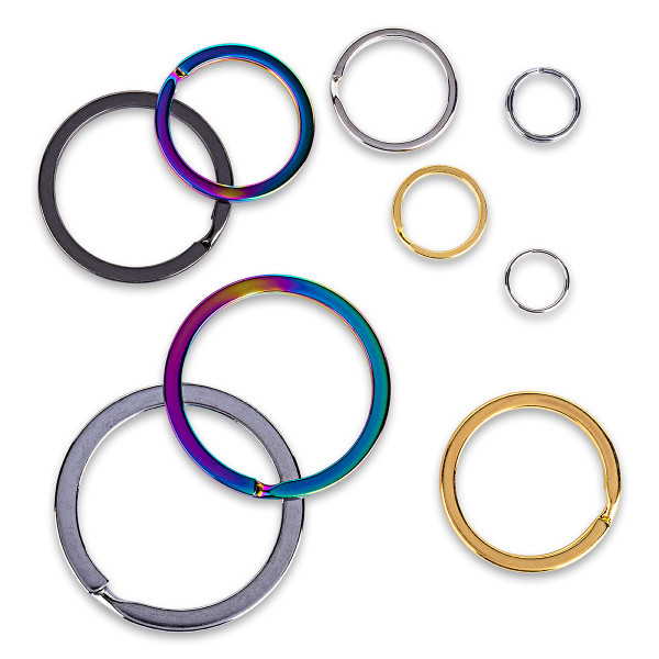 Key Ring Flat [15 to 51mm] - Zinc Alloy