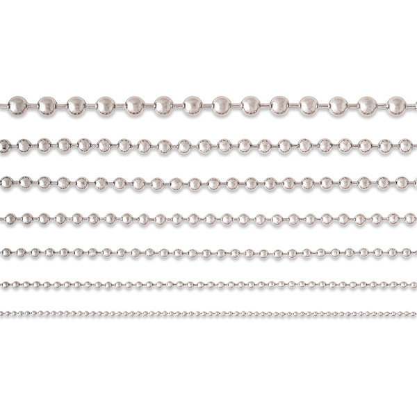 Ball Chain #3 [2.4mm] - Stainless Steel