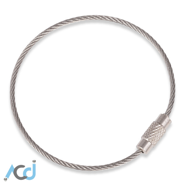 Wire Key Ring [15cm] - Stainless Steel