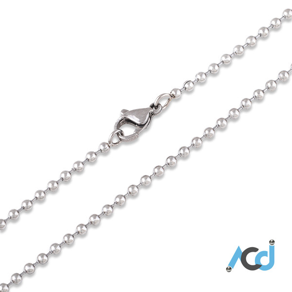 Demo: Necklace with Lobster Clasp Silver Chrome