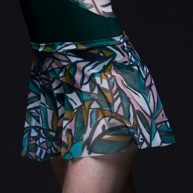 Flare Skirt Leaf Expression Mesh RTW