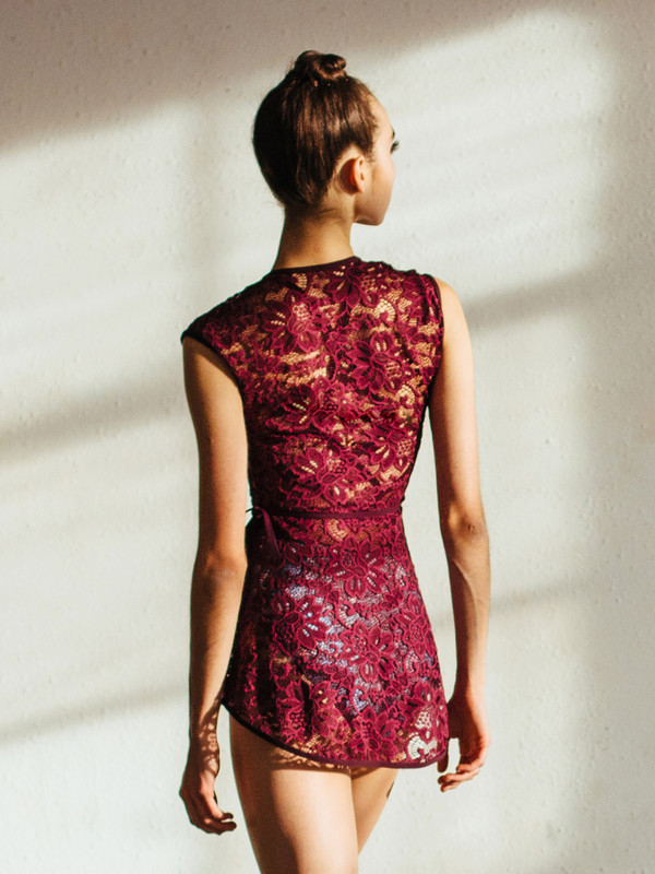 Wrap Dress Bella Lace (Available in Sangria and Wisteria) RTW
