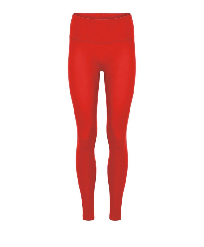 Girls' Tights High Waisted Red Matte