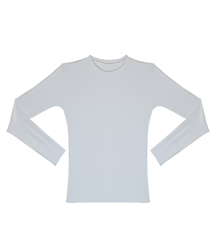 Gabe Shirt Tactel White Long Sleeve
