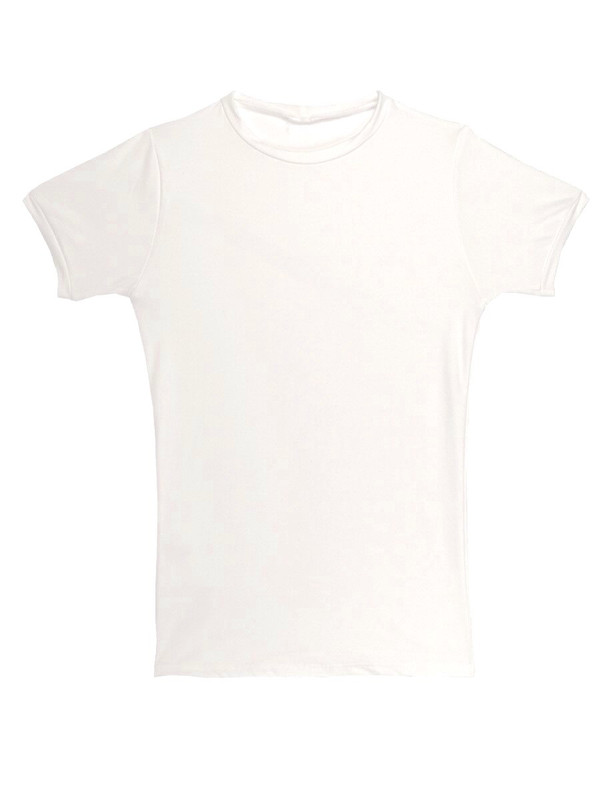 Gabe Shirt Tactel White Short Sleeve