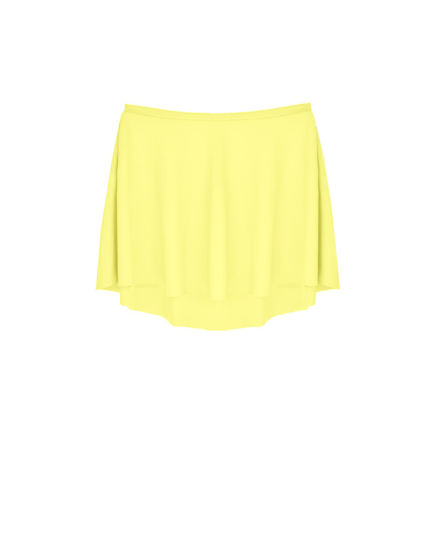 Flare Skirt Kids Lemon Matte