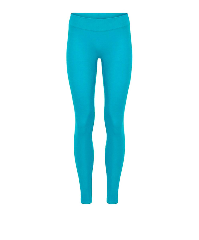 """Tights With 2"""" Waistband Tropical Peacock Shiny"""