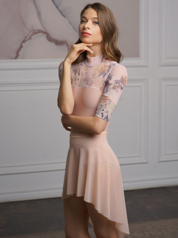 Dramatic High-Low Skirt Petal Pink RTW
