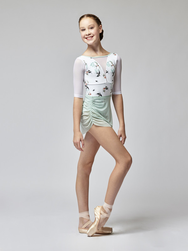 Gathered Short Skirt Kids Sea Glass Mesh RTW