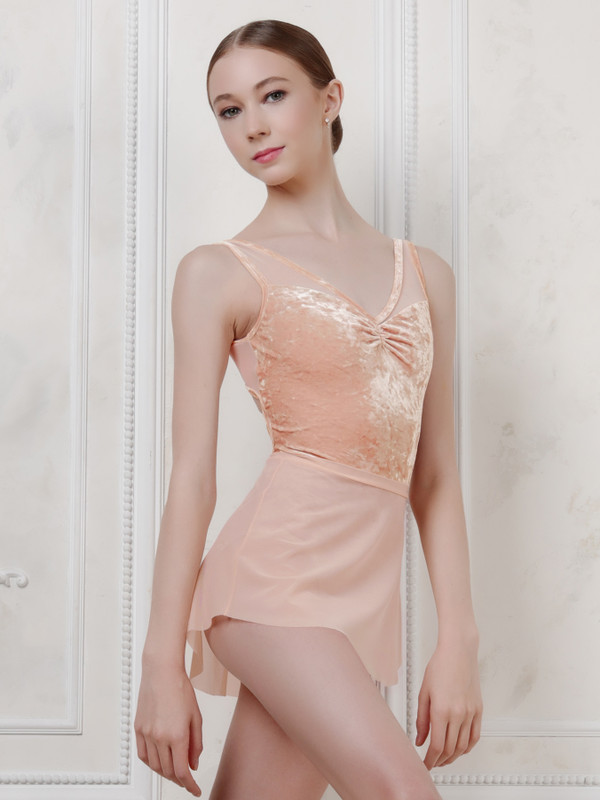 Fabiola Peach Crushed Velvet RTW