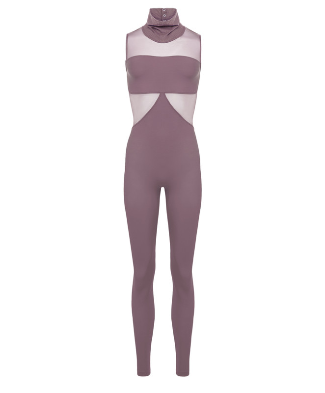 La Tricia Unitard with Collar