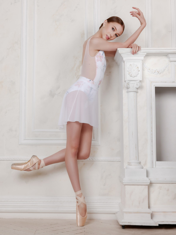 Mesh Short High-Low Skirt RTW (Available in White, LT Pink and Black)