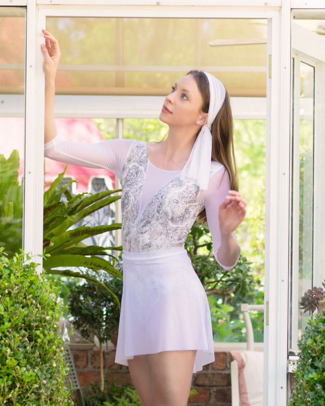 Mesh Short High-Low Skirt RTW (Available in White and LT Pink)