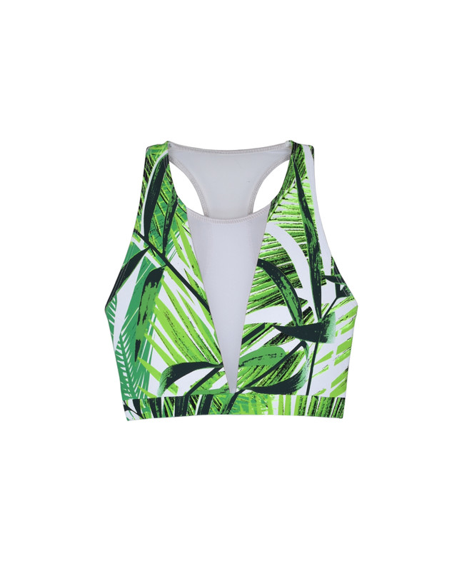 Vivian Crop Top Fronds Forever