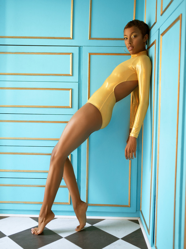 Molly Liquid Gold Leotard