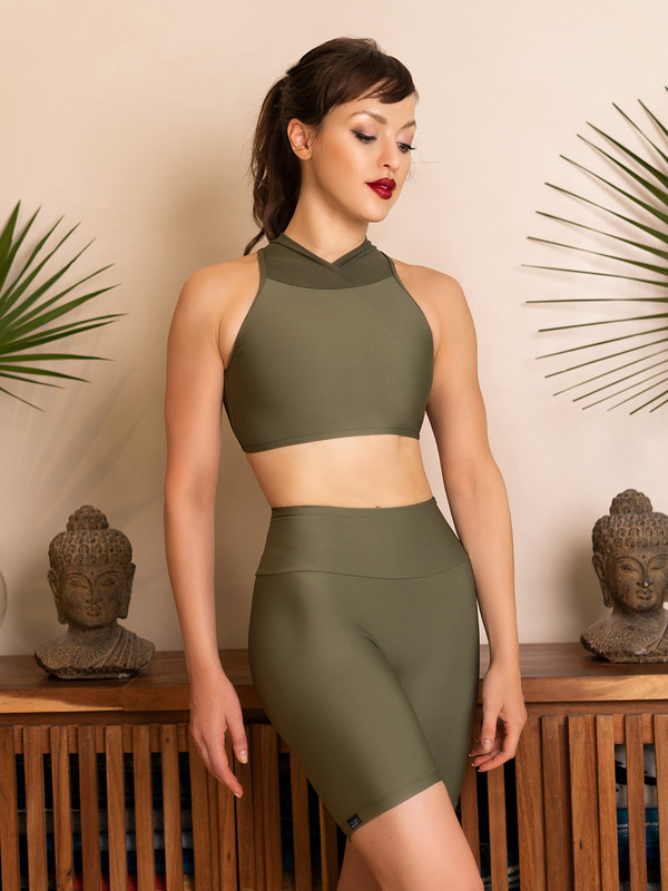 Marie Crop Top Deep Lichen RTW