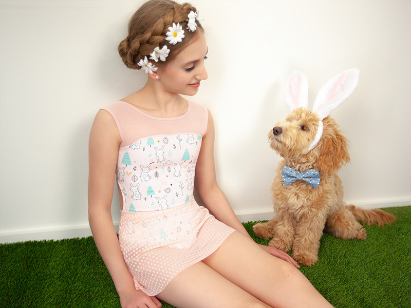 Laico Forest Bunnies with A-Line Powder Pink Dot Lace
