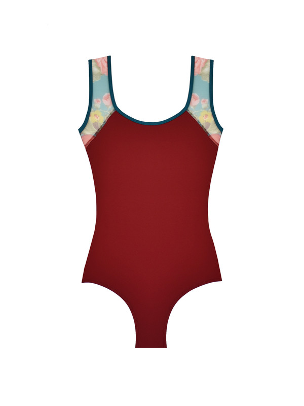 Emily Open Back Holiday Bouquet Mesh