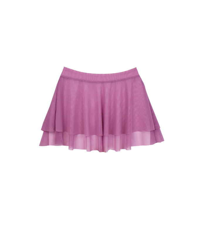 Tiered Skirt Orchid Mesh