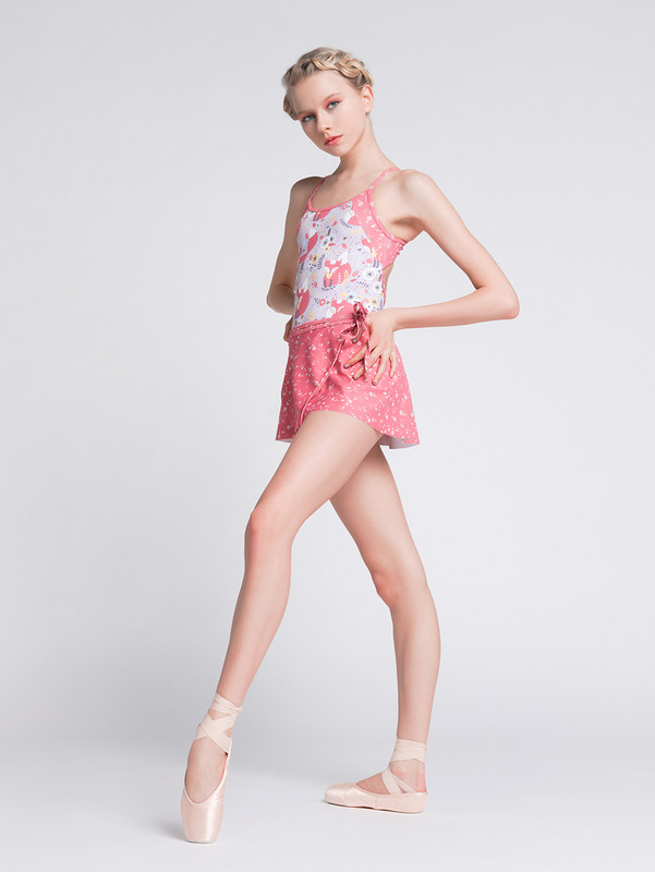 Lacey Foxtrot with Wrap Skirt Floating Flora