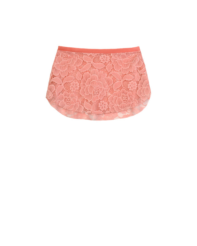 Tulip Skirt Kids Coral Floral Lace